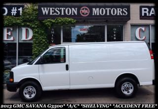 Used 2013 GMC Savana 3500 A/C* SHELVING* ACCIDENT FREE!!!* for sale in York, ON