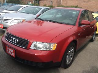 Used 2002 Audi A4 1.8T for sale in Scarborough, ON