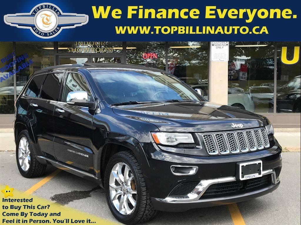 2014 Jeep Grand Cherokee Summit, Navigation, Sunroof, Leather 89K kms