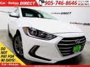Used 2017 Hyundai Elantra GL| LOW KM'S| BACK UP CAMERA| TOUCH SCREEN| for sale in Burlington, ON