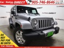 Used 2017 Jeep Wrangler Unlimited Sahara| 4X4| LEATHER| NAVI| TOUCH SCREEN| for sale in Burlington, ON