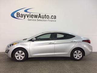 Used 2016 Hyundai Elantra L- 6 SPEED! 1.8L! ECO MODE! PWR GROUP! for sale in Belleville, ON