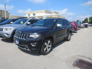 Used 2014 Jeep Grand Cherokee Overland - 4x4  GPS  Sunroof  Blindspot Monitor for sale in London, ON
