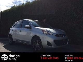 Used 2015 Nissan Micra SV + BLUETOOTH + A/C + CRUISE + NO EXTRA DEALER FEES for sale in Surrey, BC