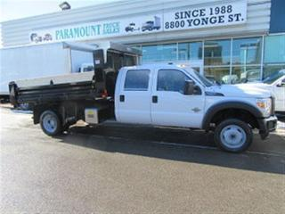 Used 2014 Ford F-550 Crew Cab 4x4 diesel with 12 ft steel dump for sale in Richmond Hill, ON