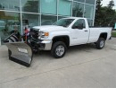 Used 2015 GMC Sierra 2500 HD Reg Cab 4x4 Gas with 8 1/2 ft V plow for sale in Richmond Hill, ON