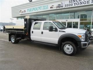 Used 2015 Ford F-550 Crew Cab 4x4 Gas with 12 ft steel dump box for sale in Richmond Hill, ON