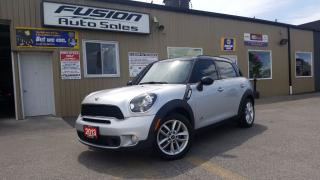 Used 2013 MINI Cooper Countryman S ALL4-1 OWNER OFF LEASE-PREMIUM PKG-LEATHER for sale in Tilbury, ON