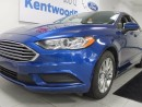 Used 2017 Ford Fusion SE. keyless entry. push start. back up cam. royal blue. for sale in Edmonton, AB