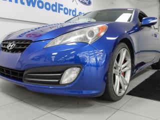 Used 2010 Hyundai Genesis Coupe 3.8 GT coupe with heated seats and push start/stop for sale in Edmonton, AB
