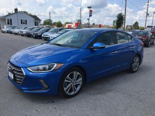 Used 2017 Hyundai ELANTRA LIMITED * LEATHER * SUNROOF * NAV * REAR CAM * BLUETOOTH for sale in London, ON