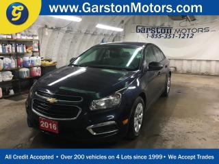 Used 2016 Chevrolet Cruze LS*LIMITED*KEYLESS ENTRY*POWER WINDOWS/LOCKS/MIRRORS*TRACTION CONTROL*AM/FM/XM/CD/USB/AUX* for sale in Cambridge, ON