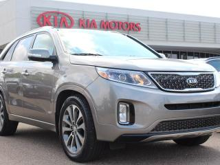 Used 2015 Kia Sorento SX AWD, HEATED FRONT/BACK SEATS, COOLED SEATS, HEATED WHEEL, PANORAMIC SUNROOF, BACKUP CAM, NAVI, USB / AUX for sale in Edmonton, AB