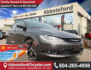 Used 2016 Chrysler 200 Like New Showcase Vehicle, All-Wheel Drive! for sale in Abbotsford, BC