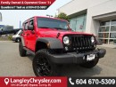 Used 2016 Jeep Wrangler Unlimited Sport * ACCIDENT FREE * LOCAL BC CAR * DEALER INSPECTED * for sale in Surrey, BC