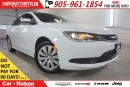 Used 2016 Chrysler 200 LX| 1-OWNER| LOCAL TRADE| WELL-MAINTAINED| for sale in Mississauga, ON