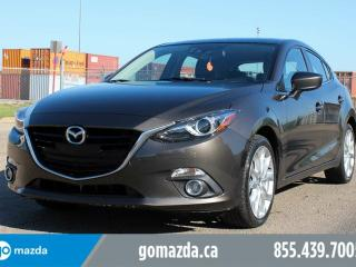 Used 2014 Mazda MAZDA3 GT-SKY TECHNOLOGY LEATHER SUNROOF HEATED SEATS for sale in Edmonton, AB