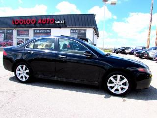 Used 2005 Acura TSX Premium PKG 2.4L Leather Sunroof for sale in Milton, ON