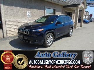 Used 2016 Jeep Cherokee Ltd.4x4*Lthr for sale in Winnipeg, MB