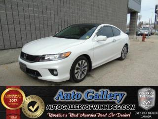 Used 2015 Honda Accord Coupe EX *Htd. Seats/Roof for sale in Winnipeg, MB