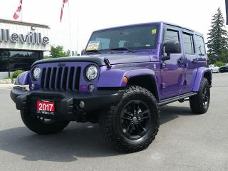 Used 2017 Jeep Wrangler Unlimited Rare Find ! NAV- Heated Seats - Hitch - Alpine Sou for sale in Belleville, ON