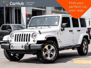 New 2017 Jeep Wrangler Unlimited Sahara 4x4 Navigation Heated Leather Seats ALPINE Sound for sale in Thornhill, ON