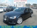 Used 2013 Audi A4 2.0T Premium Leather/Sunroof/Alloys &GPS* for sale in Mississauga, ON