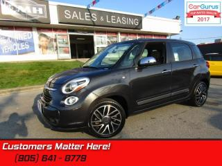 Used 2014 Fiat 500 L Lounge  NAV, LEATHER, ROOF, CAM, HS, PARKING SENSORS for sale in St Catharines, ON