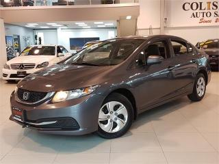 Used 2015 Honda Civic Sedan LX-AUTO-REAR CAM-BLUETOOTH-ONLY 65KM for sale in York, ON