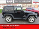 Used 2011 Jeep Wrangler Sport  4X4, V6, MANUAL, SOFT TOP, AIR CONDITIONING for sale in St Catharines, ON