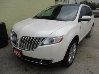 Used 2013 Lincoln MKX LOADED AWD 5 PASSENGER 3.7L - V6.. LEATHER.. HEATED/AC SEATS.. BACK-UP CAMERA.. NAVIGATION.. DUAL SUNROOF.. THX AUDIO.. for sale in Bradford, ON