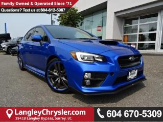 Used 2016 Subaru WRX Sport-tech Package *ACCIDENT FREE * LOCAL BC CAR * for sale in Surrey, BC