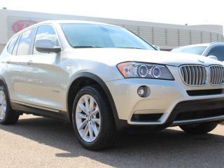 Used 2011 BMW X3 xDRIVE35i, HEATED SEATS, HEATED WHEEL, BACKUP RADAR, PANORAMIC SUNROOF, NAVI, POWER TRUNK for sale in Edmonton, AB