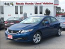 Used 2013 Honda Civic LX - Heated Seats - Bluetooth for sale in Mississauga, ON