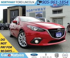 Used 2016 Mazda MAZDA3 GT | NAV | HEATED LEATHER | SUN ROOF | for sale in Brantford, ON