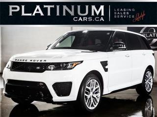 Used 2015 Land Rover Range Rover Sport SVR, SUPERCHARGED 550HP, NAVI, PANO, SPORT SEATS for sale in North York, ON