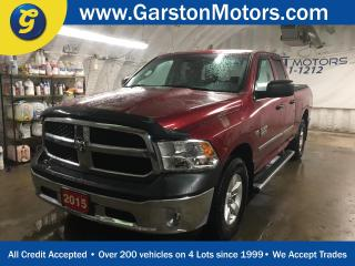 Used 2015 Dodge Ram 1500 SXT*QUAD*HEMI*4WD*TONNEAU COVER*HITCH RECEIVER w/PIN CONNECTOR*BOX LINER*SIDE STEPS*ALLOYS*KEYYLESS ENTRY*POWER WINDOWS/LOCKS/HEATED MIRRORS*TOW/HAUL for sale in Cambridge, ON