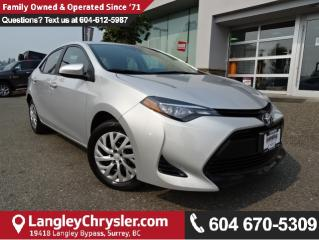 Used 2017 Toyota Corolla LE *ONE OWNER*LOCAL BC CAR* for sale in Surrey, BC