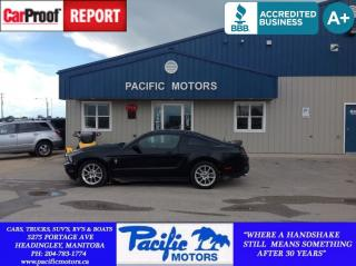 Used 2011 Ford Mustang Value Leader for sale in Headingley, MB