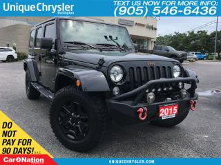 Used 2015 Jeep Wrangler Unlimited Sahara | BF GOODRICH TIRES | XRC BUMPERS | for sale in Burlington, ON