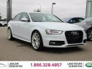 Used 2015 Audi A4 2.0T Technik quattro AWD S-Line - Local One Owner Trade In | No Accidents | 3M Protection Applied | Heated Leather Seats | Dual Zone Climate Control with AC | Power Sunroof | 19 Inch Wheels | Blind Spot Monitor | Bang and Olufsen Audio | Memory Seat | Blu for sale in Edmonton, AB