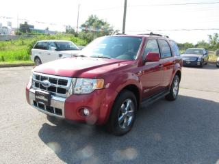 Used 2008 Ford Escape Limited AWD LEATHER for sale in Newmarket, ON