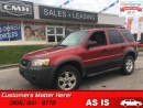 Used 2006 Ford Escape XLT  AS TRADED *UNCERTIFIED* for sale in St Catharines, ON