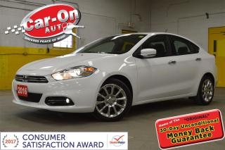 Used 2016 Dodge Dart Limited LEATHER SUNROOF NAV REMOTE START for sale in Ottawa, ON