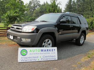 Used 2003 Toyota 4Runner Sport, 4WD, V8, Roof, Warr for sale in Surrey, BC