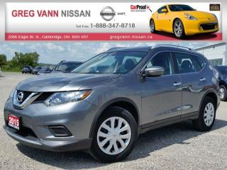 Used 2015 Nissan Rogue S FWD w/keyless entry,rear cam,power heated mirrors,cruise,bluetooth for sale in Cambridge, ON