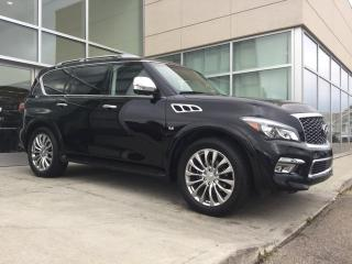 Used 2016 Infiniti QX80 TECH/HEATED AND COOLED SEATS/NAV/DVD/LANE DEPARTURE/BLIND SPOT/AROUNDVIEW MONITOR for sale in Edmonton, AB