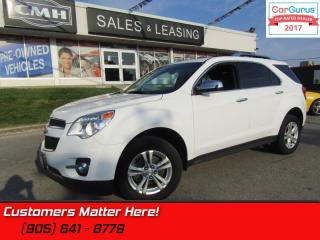 Used 2013 Chevrolet Equinox LTZ  AWD, LEATHER, ROOF LANE DEPARTURE, CRASH WARNING for sale in St Catharines, ON