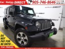 Used 2017 Jeep Wrangler Unlimited Sahara| LEATHER| NAVI| 4X4| HEATED SEATS| for sale in Burlington, ON