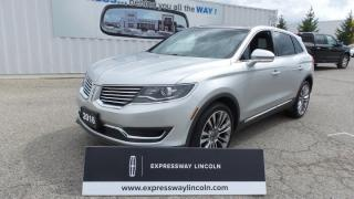 Used 2016 Lincoln MKX Reserve, 2.7L Ecoboost, Local Trade In for sale in Stratford, ON